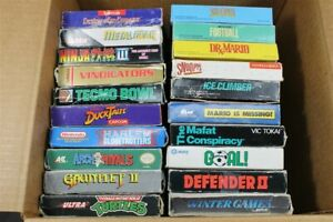 Lot of 20 Empty NES Nintendo Game Boxes ONLY