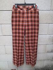 VINTAGE Pantalon LE CORSAIRE femme années 70 marron orange pant 70's 44