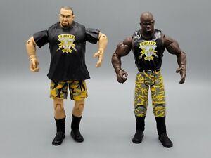 WWE WWF Jakks Bubba Ray D-Von Dudley Boyz Adrenaline 8 VTG Wrestling Figure Lot