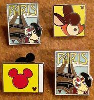 Disney Hidden Mickey Pins Set Of 4 Dale Bambi Mickey