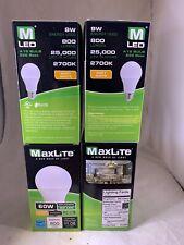 MaxLite LED 60W Dimmable Soft White (A19 Bulb, E26 Base) Lot of 12