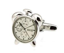 Men's Cufflinks Alarm Clock White Cuff links 19mm  4204