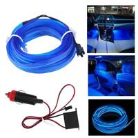 Universal Car Interior LED Decor Neon Wire Flexible Strip Atmosphere Cold Light