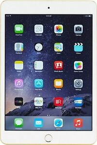 Apple iPad mini 3 64GB, Wi-Fi + Cellular (Unlocked) 7.9in - Gold - UK