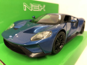 Ford GT Blue 1:24-27 Scale Welly 24082 New Boxed