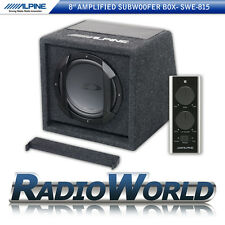 "Alpine SWE-815 Compact Active 8"" Car Sub Subwoofer Enclosure Box Bass 300W"