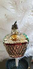 Fruit Basket Antique German Christmas Tree Decor Mercury Glass Vintage Ornament