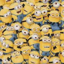 Minions Despicable Me Kids Boys Girls Licensed Quilt Fabric FQ or Metre *New*