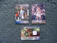 (3)YAO MING RC LOT- 2002-03 HIT,STADIUM,TOPPS PRISTINE ROOKIE CLUB SHORTS RELICS