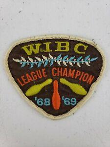 1968-1969 68 69 Womens International Bowling Congress WIBC League Champion Patch