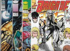BRIGADE #1-#4 SET (NM-) IMAGE COMICS SERIES