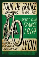Tour de France 1929 Blechschild Schild gewölbt Metal Tin Sign 20 x 30 cm