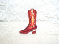 Western Boot Pin with faux diamonds