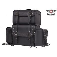 Universal Fit Harley Sissy Bar Bag Motorcycle Luggage Travel Removable Side Bags