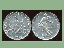 2 FRANCS  semeuse 1916    argent  silver  ( bis )