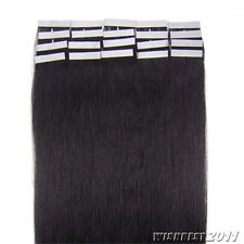 "Grade 7A Seamless Tape In Skin Weft Real Remy Human Hair Extensions 16""-26"""