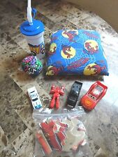 LARGE LOT BOYS TOYS SPIDERMAN PILLOW CARS TREAT BAGS BALL DISNEY PUZZLE CUP WOW!
