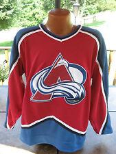 Vintage NHL Starter Authentic COLORADO AVALANCHE Jersey Medium W/Fight Strap