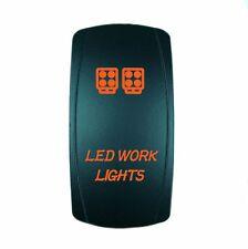 Laser Waterproof Rocker Switch Push Button ORANGE LED WORK LIGHTS Backlit