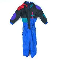 Vintage Raewiks Kids Size 6 Puffy Snowsuit Ski Suit 1980s Colorful