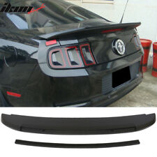 10-14 Ford Mustang GT V6 GT500 Style Unpainted Trunk Spoiler - ABS