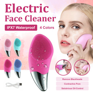 Silicone Electric Face Cleansing Brush Facial Skin Cleaner Cleaning Massager AU