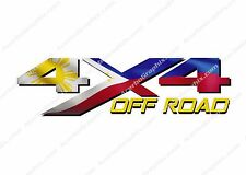 4x4 Off Road PHILIPPINES Flag TRUCK Decal/Sticker! JEEP GM CHEVY GMC DODGE FORD