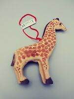 Wooden Giraffe Animal Christmas Hanging Ornament by Midwest Importers
