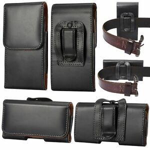 For Samsung Galaxy Note 20 Ultra 5G Black Leather Holster Belt Clip Case Cover