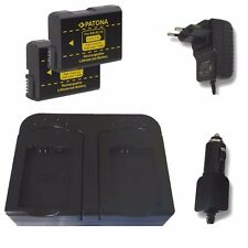 Doppel-Ladegerät + 2 x Patona Akku für Nikon D3100, D3200, D3300 - EN-EL14