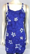Bali Girl Blue Star Floral Beach Cover dress Tunic Top Womens Size Small Medium