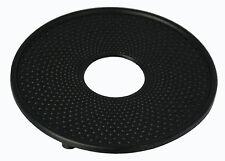 Japanese Style Round Cast Iron 13cm Trivet/ Coaster, Hobnail Design BLACK