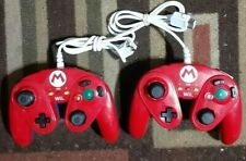 2 Super Mario Battle Pad Red Mario Edition Nintendo WII U Controllers