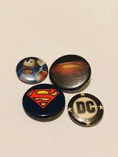 Superman Dc Pin Set Fast Free Shipping