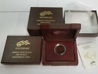 (NO COIN) 2009 American Buffalo 1oz $50 Gold Proof Wood Leather Box w/ CAP & COA
