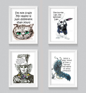 Fun Quote Prints,Motivational,Character Art,Inspirational,Cat,Rabbit,Caterpillar