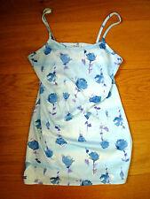 Pimkie Damen Kleid Sommerkleid Top Oberteil Hellblau Blumen Gr 36/38 Top Zustand