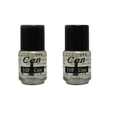 Professional Top Coat Acrylic UV Gel Nail Art 15ml Polish Topcoat Hot Sale 2 PCS