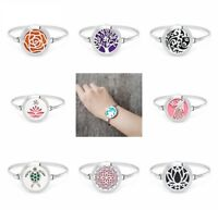 Fashion 30MM Perfume Bangle Bracelet Essential Oil Diffuser Aromatherapy Locket
