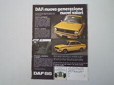 advertising Pubblicità 1973 DAF 66 MARATHON COUPE'