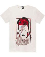 Amplified David Bowie Aladdin Sane Album White Diamante Men's T-Shirt