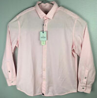 Untuckit Folonari Pink Button Up Long Sleeve Shirt Mens XL Extra Large NWT