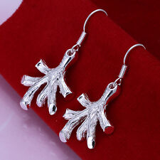 925 STUNNING SILVER SIREN CORAL EARRINGS LITTLE MERMAID CHRISTMAS VALENTINES