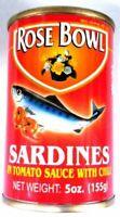 Rose Bowl Sardines With Chili 15oz,3 packs