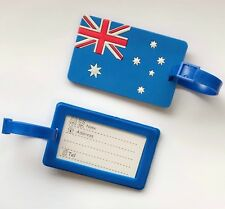 Luggage Tag Australian Flag Travel ID Name Bag Pouch Tag proud to be Aussie