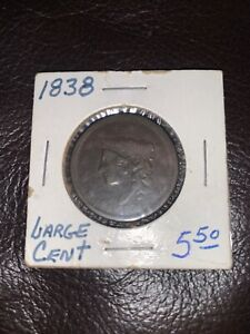 Lot of 2 - Cornet head large cent 1817 and 1838