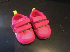 BABY PEEK N FIT MESH TRAINER SHOE PINK SIZE 0.5