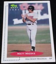 1991 Classic Best Matt Mieske Outfield High Desert Mavericks MLV Baseball Card