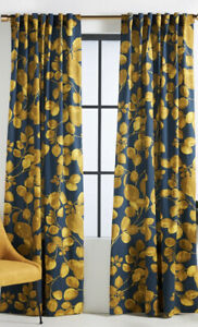 Anthropologie Sussette Curtain 84x50 Olive Pattern Bold Graphic 1 Panel Boho
