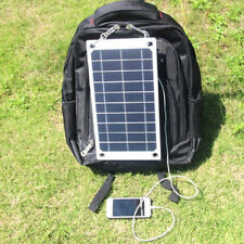 Portable Solar Panel USB Cell Phone Charger For Backpack Travel Bag Camping TP